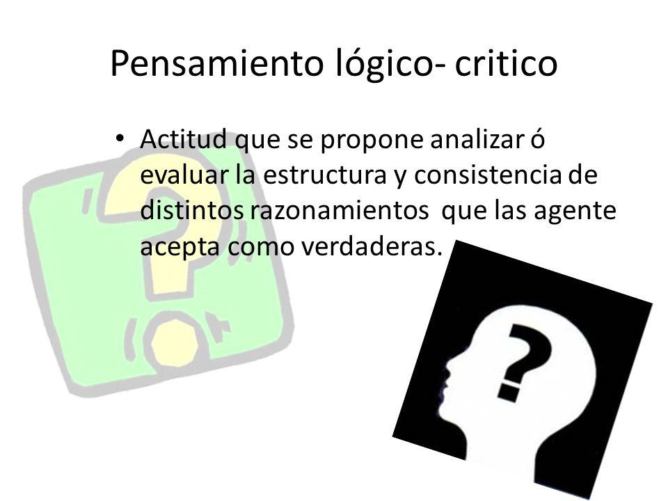 Pensamiento lógico- critico