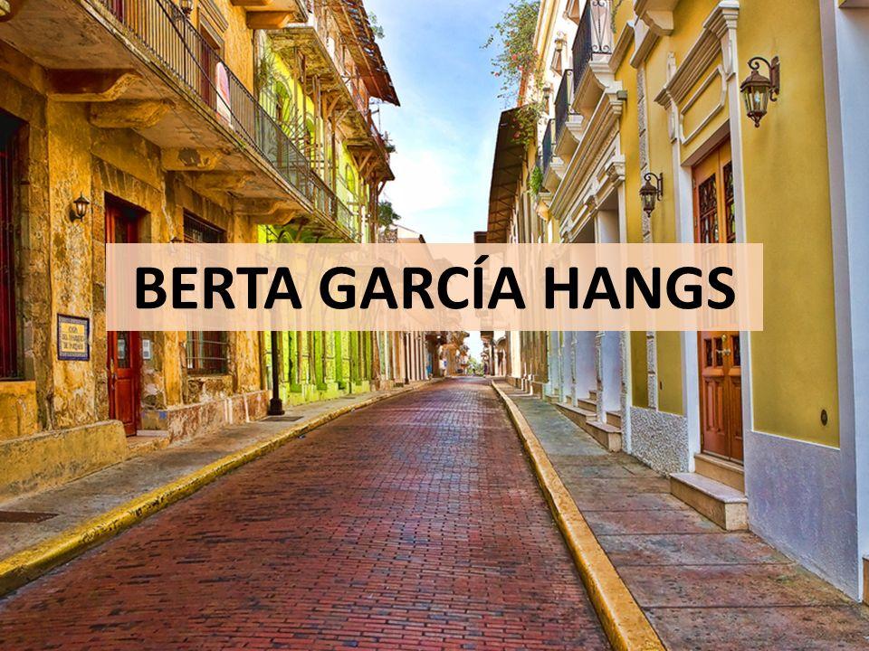 BERTA GARCÍA HANGS