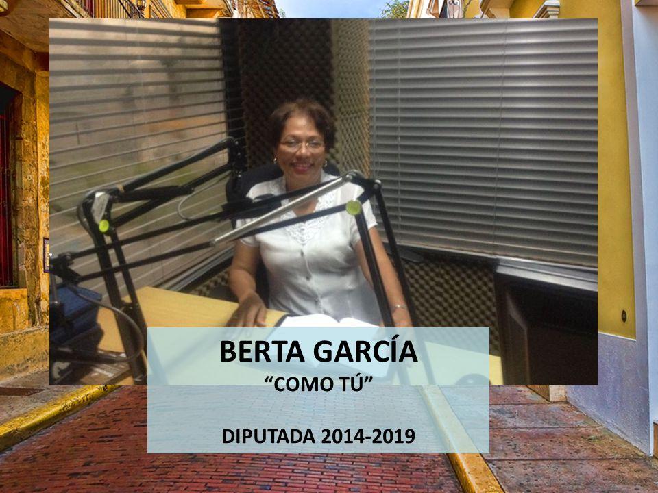 BERTA GARCÍA COMO TÚ DIPUTADA 2014-2019
