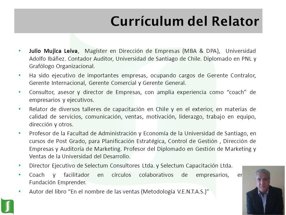Currículum del Relator