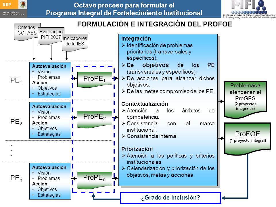 (2 proyectos integrales)