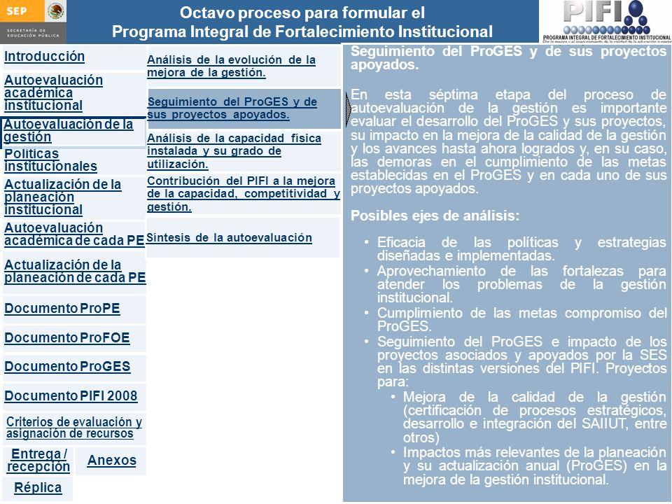 Seguimiento del ProGES y de sus proyectos apoyados.