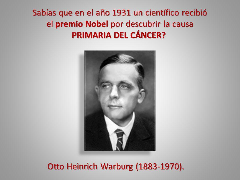 Sabías que en el año 1931 un científico recibió el premio Nobel por descubrir la causa