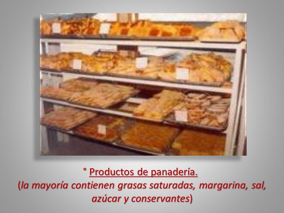 ° Productos de panadería.