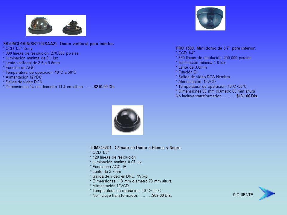 SK20M3D1AIN(SK1102SAA2). Domo varifocal para interior. CCD 1/3 Sony