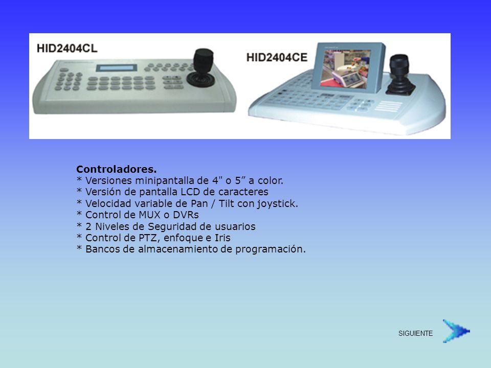 Controladores. Versiones minipantalla de 4 o 5 a color