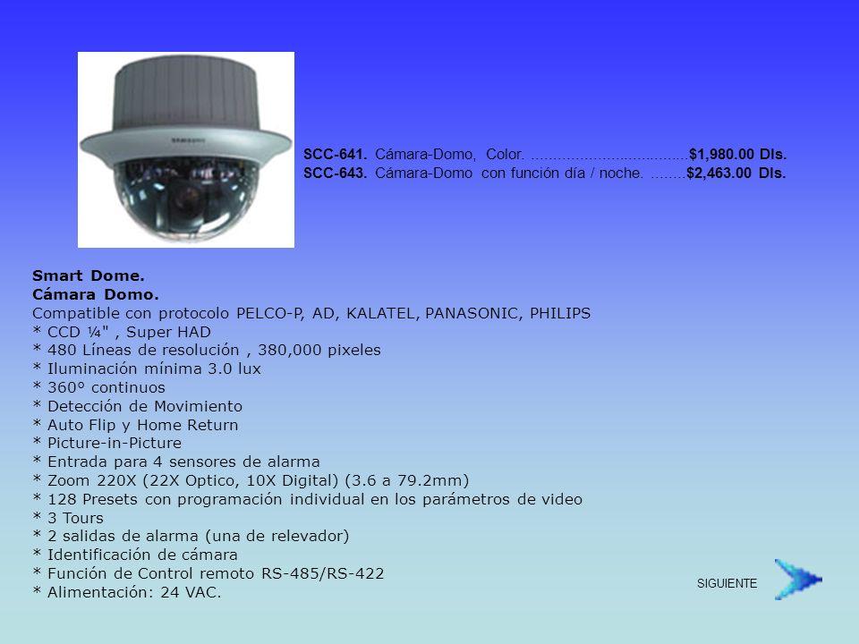 SCC-641. Cámara-Domo, Color. $1,980. 00 Dls. SCC-643