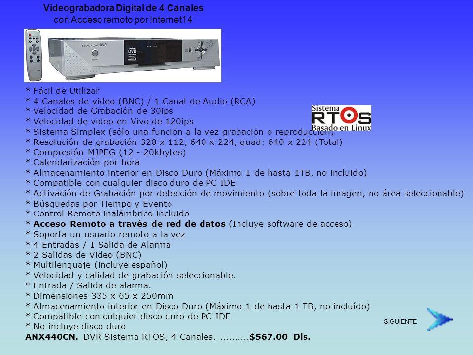 Videograbadora Digital de 4 Canales con Acceso remoto por Internet14