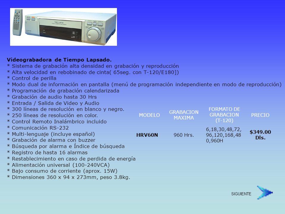 FORMATO DE GRABACION (T-120)