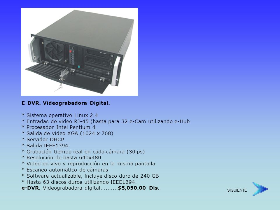 E-DVR. Videograbadora Digital.