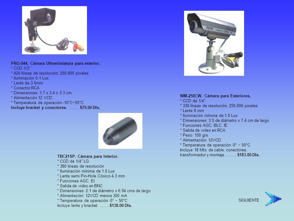 PRO-044. Cámara Ultraminiatura para exterior. CCD 1/3