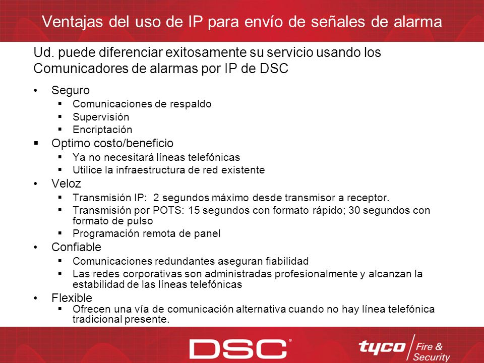 Ventajas del uso de IP para envío de señales de alarma