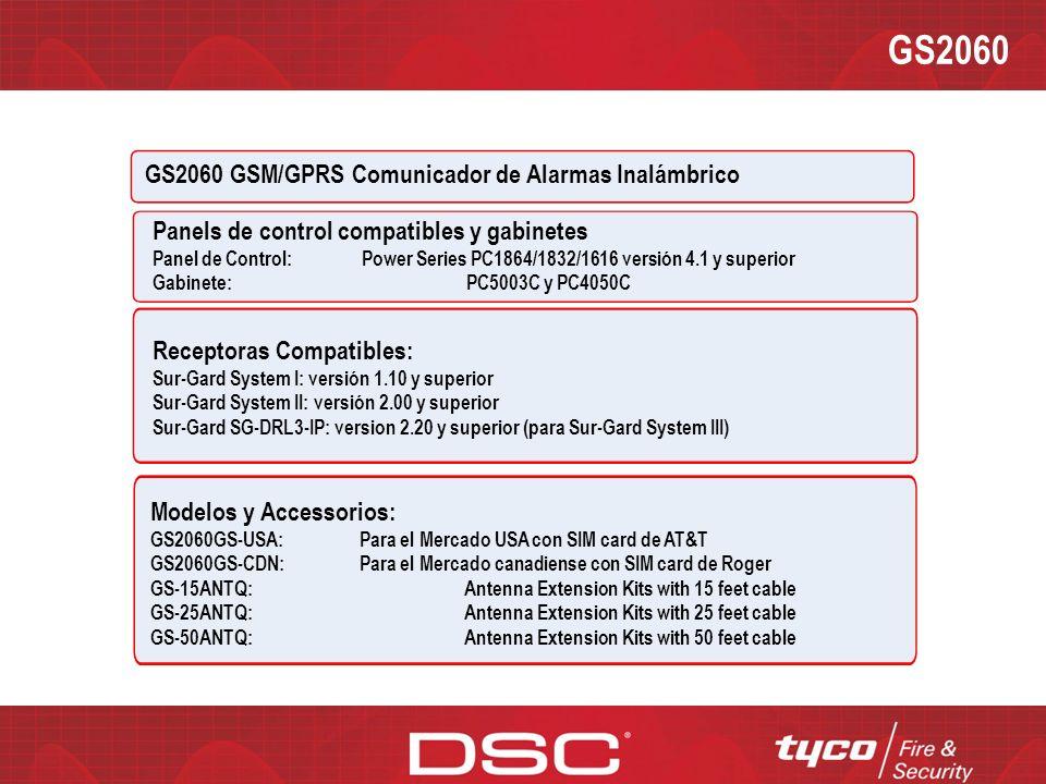 GS2060 GS2060 GSM/GPRS Comunicador de Alarmas Inalámbrico