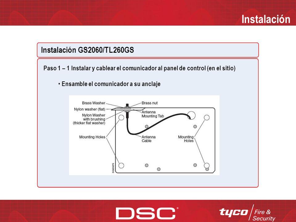 Instalación Instalación GS2060/TL260GS READ SCREEN