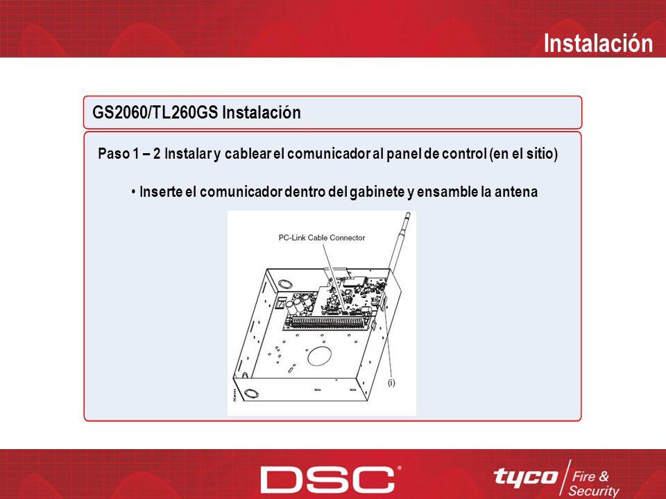 Instalación GS2060/TL260GS Instalación READ SCREEN