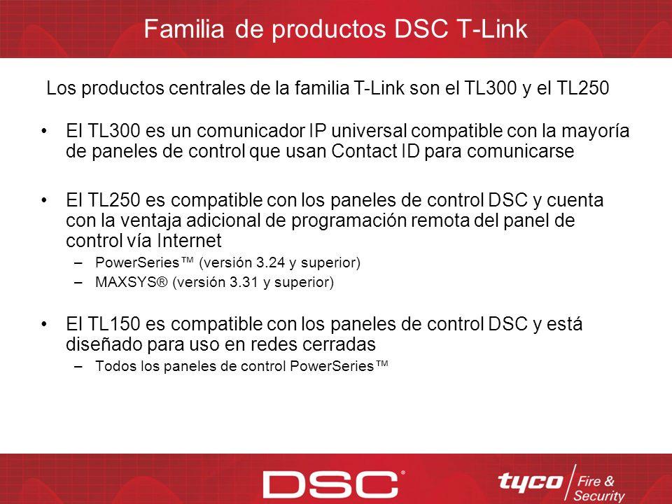 Familia de productos DSC T-Link
