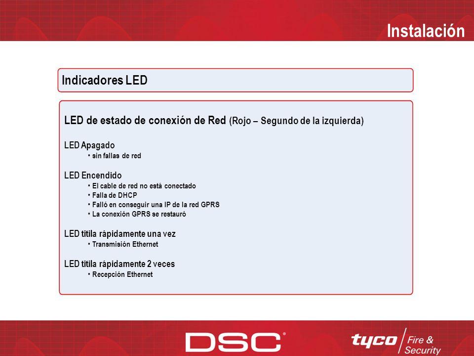 Instalación Indicadores LED