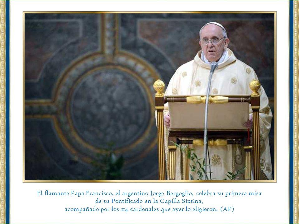 de su Pontificado en la Capilla Sixtina,