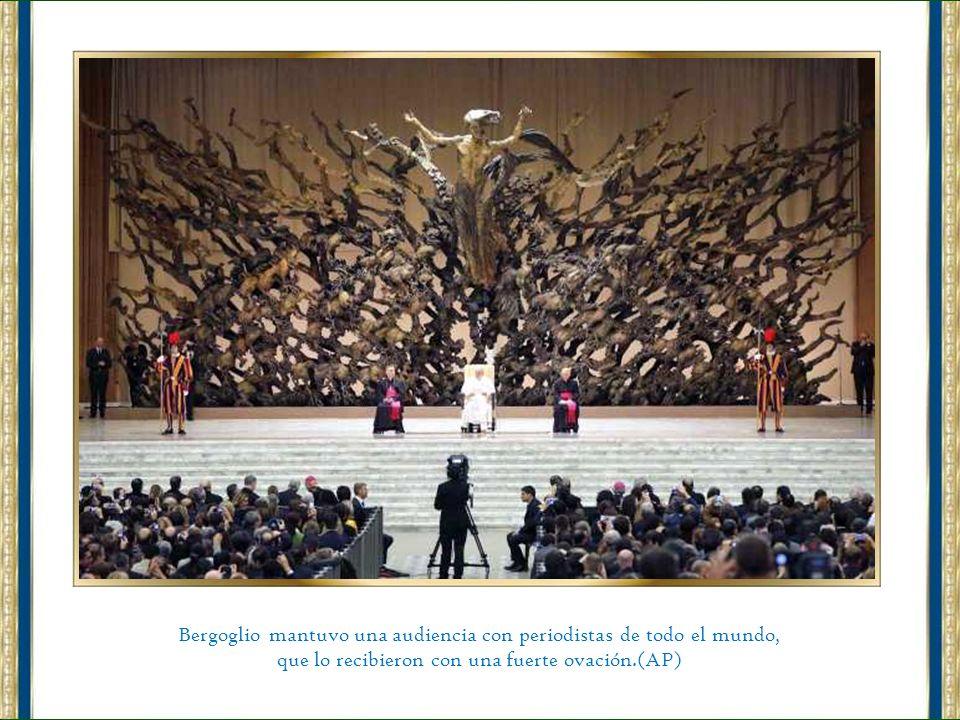Bergoglio mantuvo una audiencia con periodistas de todo el mundo,