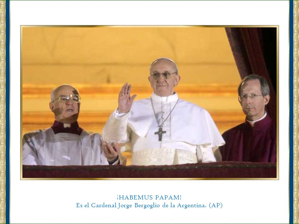 Es el Cardenal Jorge Bergoglio de la Argentina. (AP)