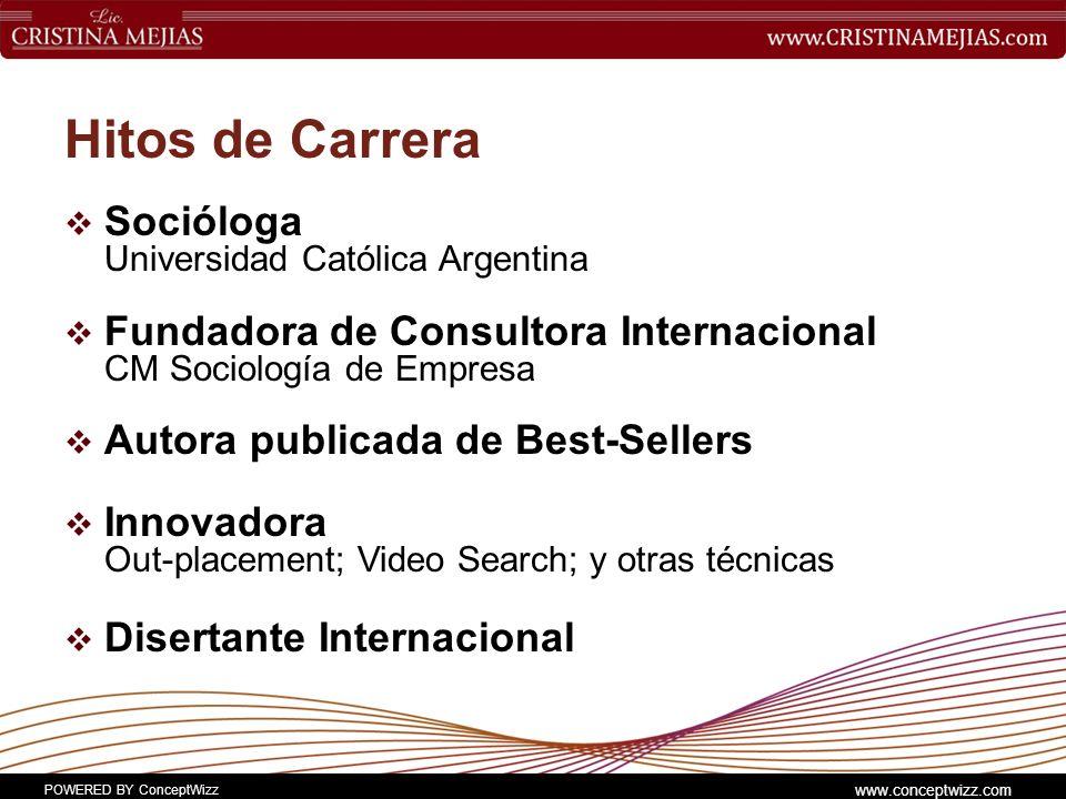 Hitos de Carrera Socióloga Universidad Católica Argentina