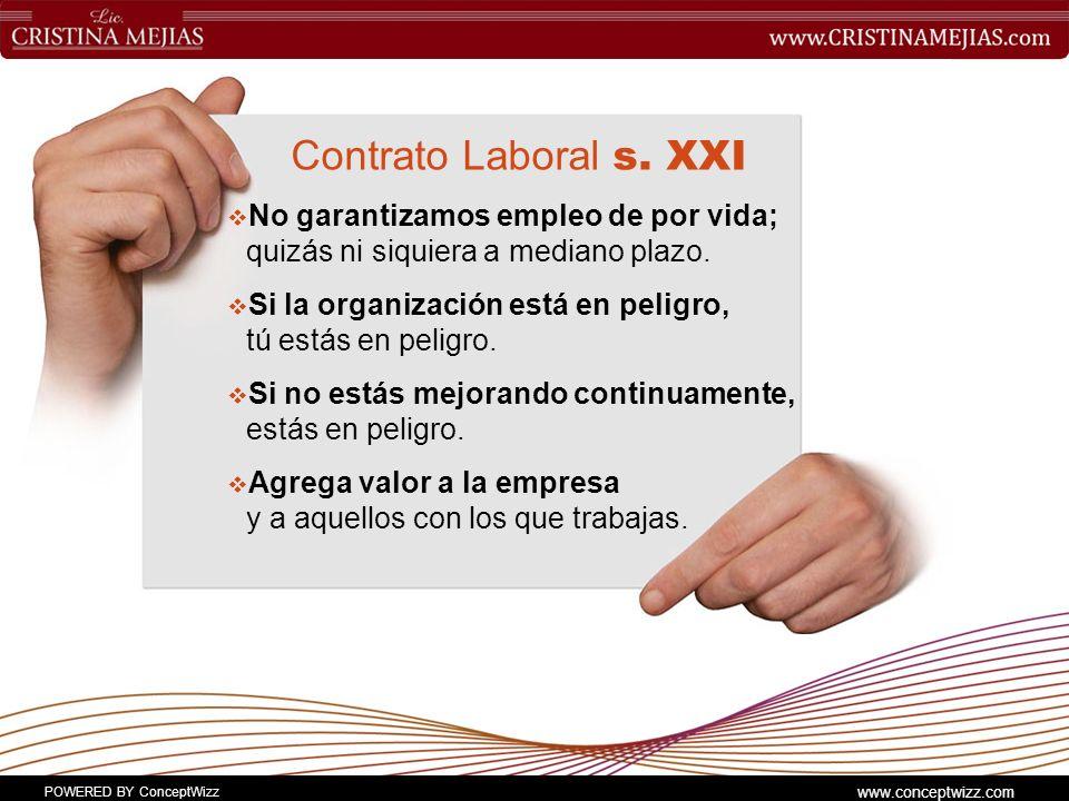 Contrato Laboral s. XXI No garantizamos empleo de por vida; quizás ni siquiera a mediano plazo.