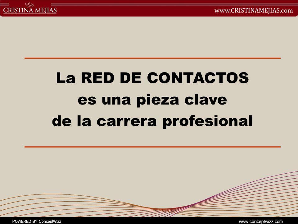 La RED DE CONTACTOS es una pieza clave de la carrera profesional