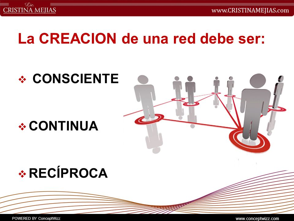 La CREACION de una red debe ser: