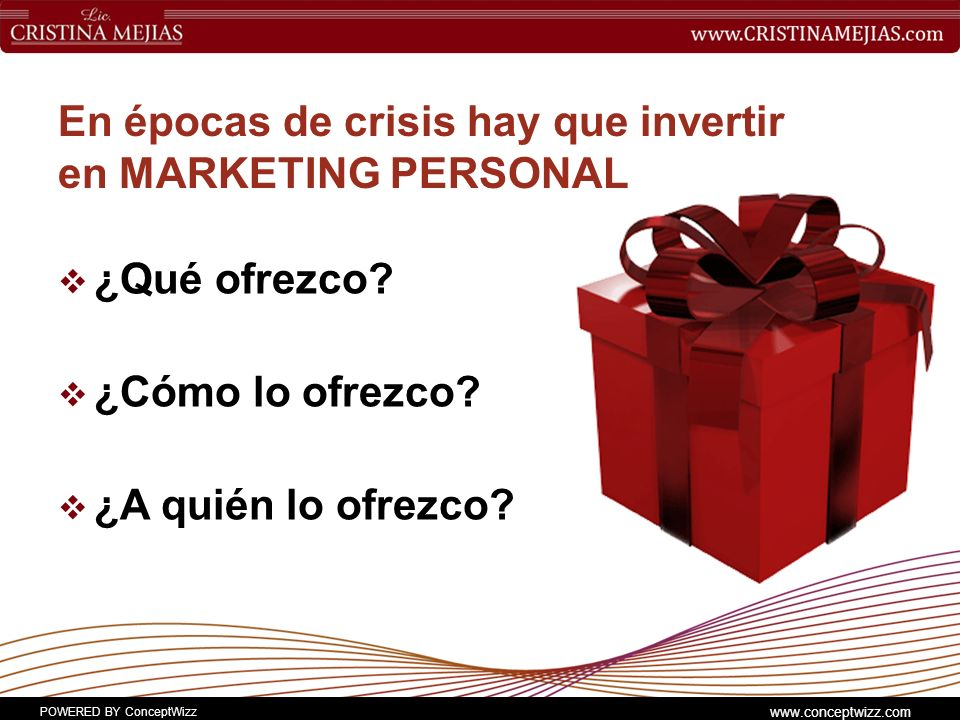 En épocas de crisis hay que invertir en MARKETING PERSONAL