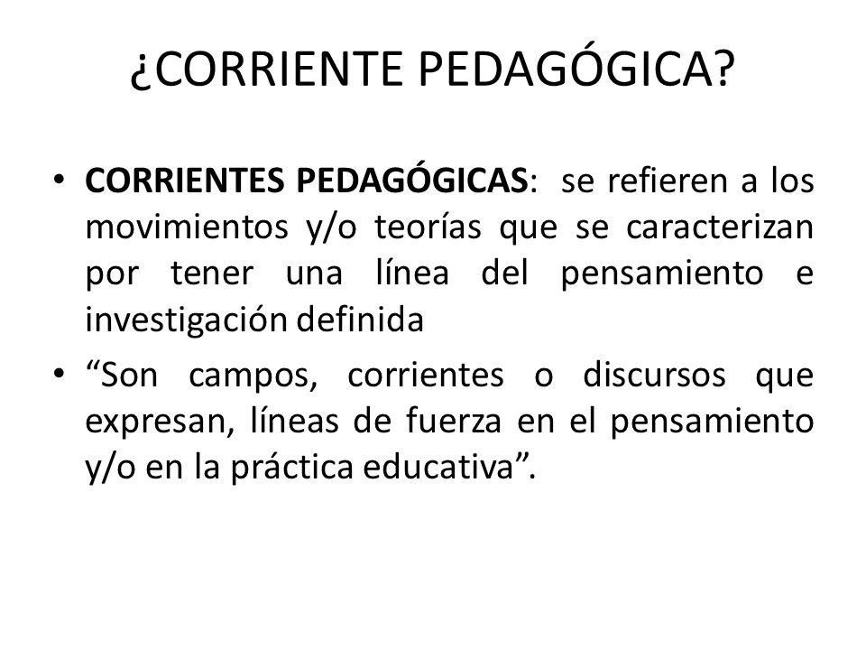 ¿CORRIENTE PEDAGÓGICA
