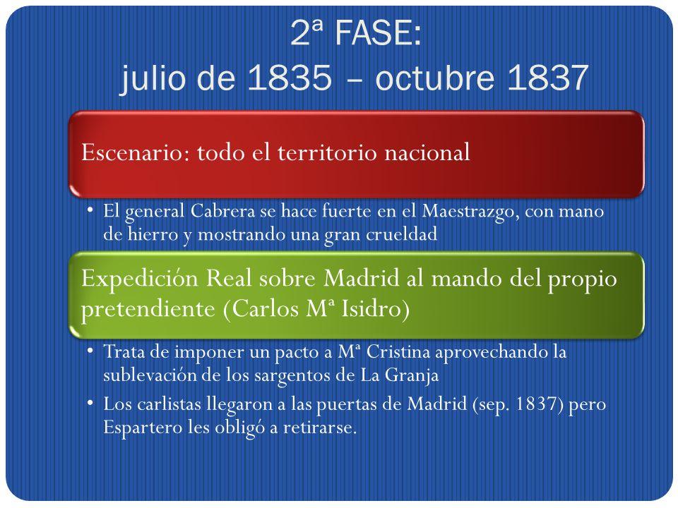 2ª FASE: julio de 1835 – octubre 1837