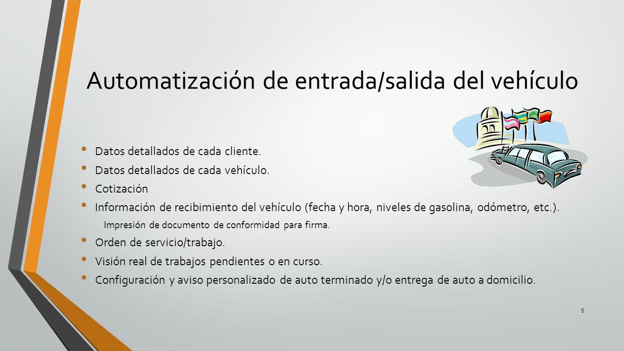 Automatización de entrada/salida del vehículo