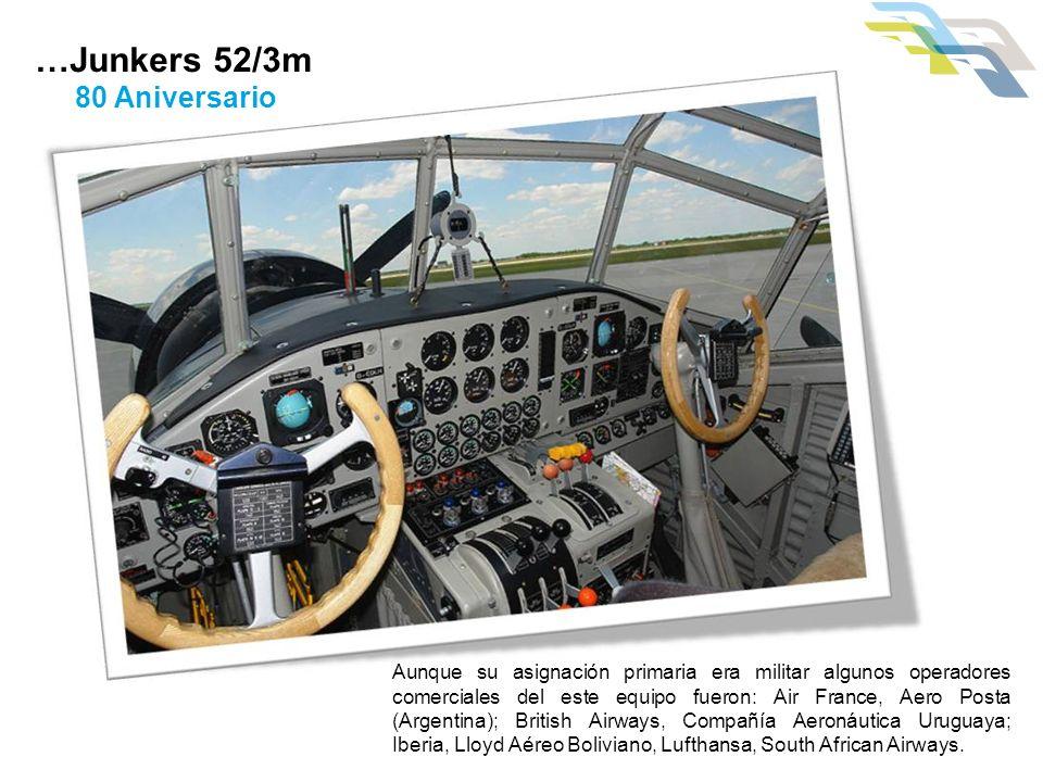 …Junkers 52/3m 80 Aniversario