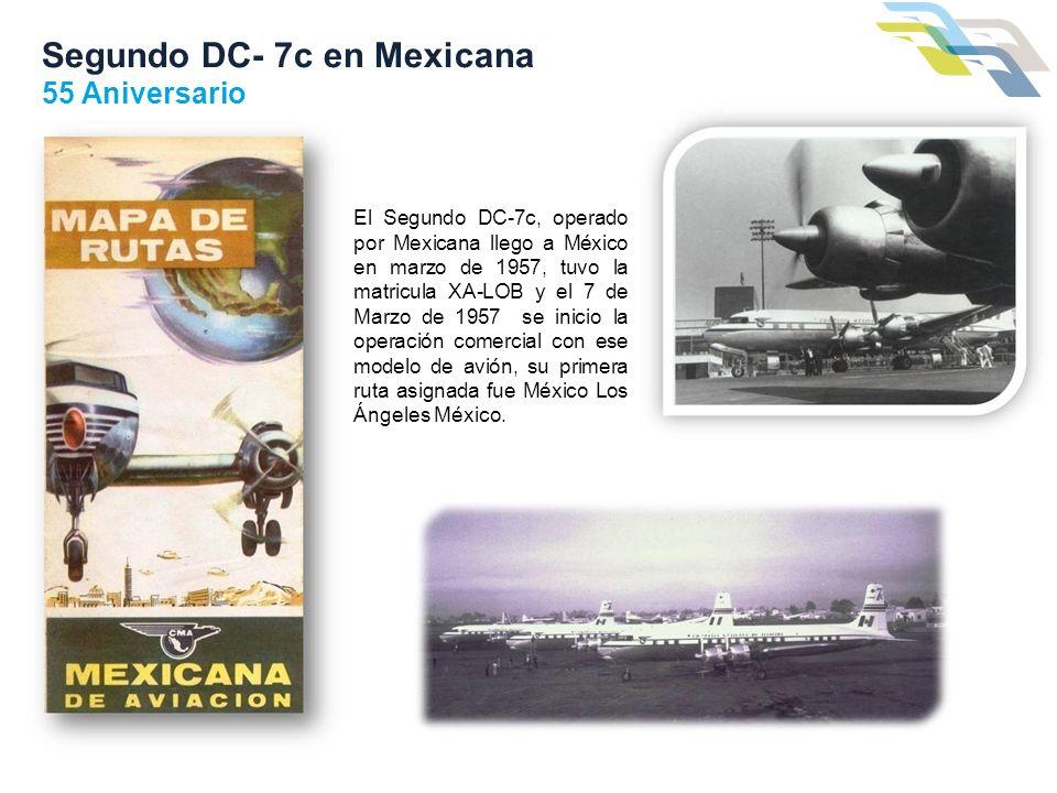 Segundo DC- 7c en Mexicana