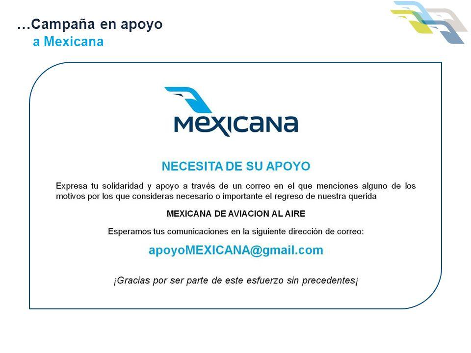 …Campaña en apoyo a Mexicana