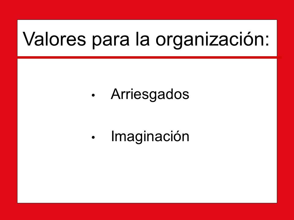 Valores para la organización: