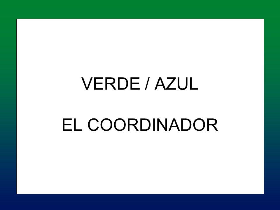 VERDE / AZUL EL COORDINADOR