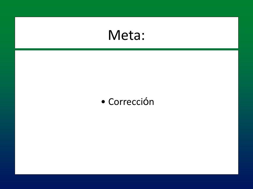 Meta: Corrección
