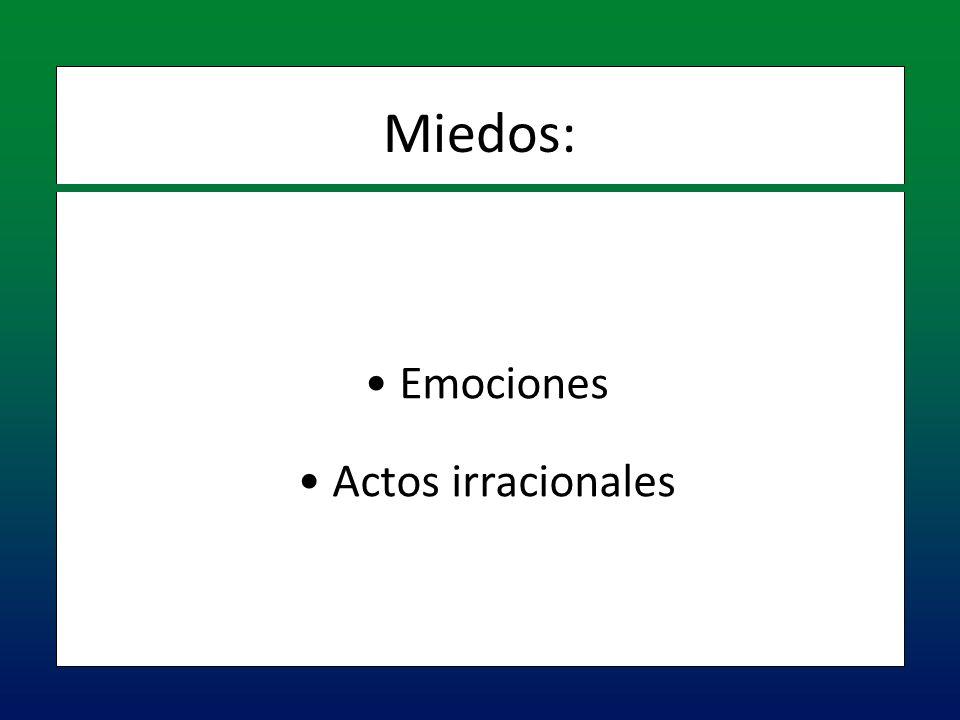Miedos: Emociones Actos irracionales