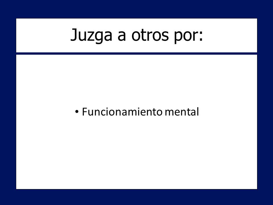 Funcionamiento mental