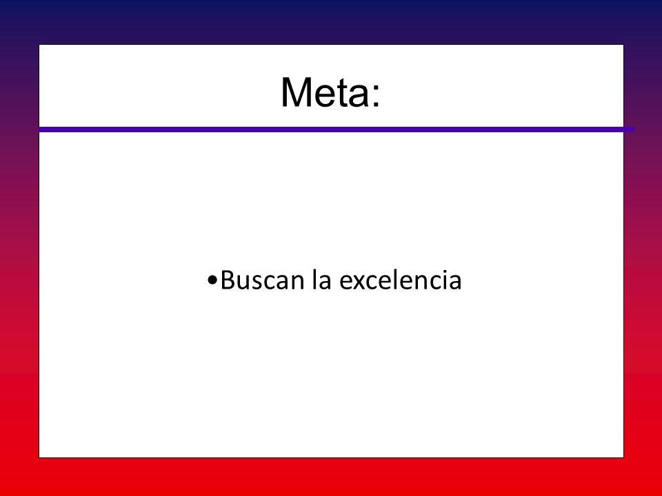 Meta: Buscan la excelencia