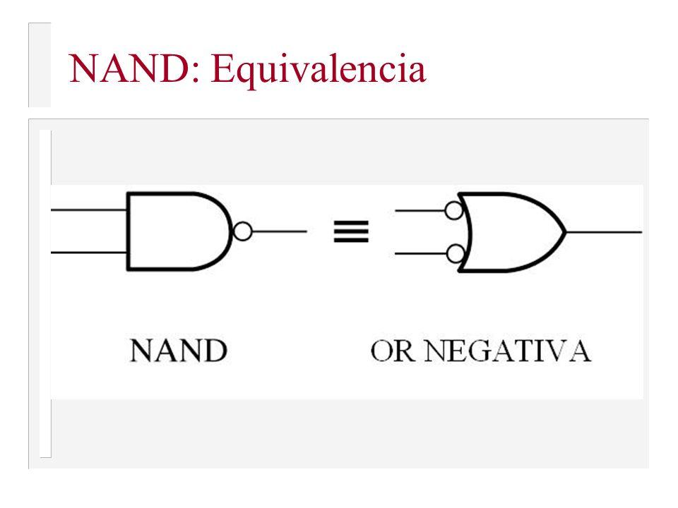 NAND: Equivalencia