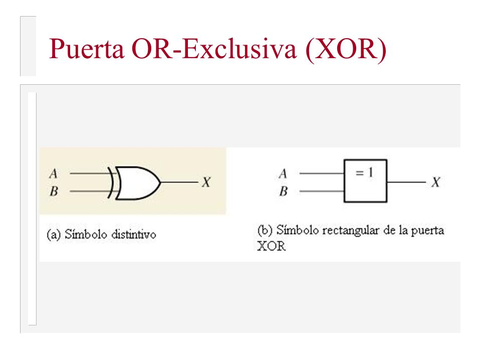 Puerta OR-Exclusiva (XOR)