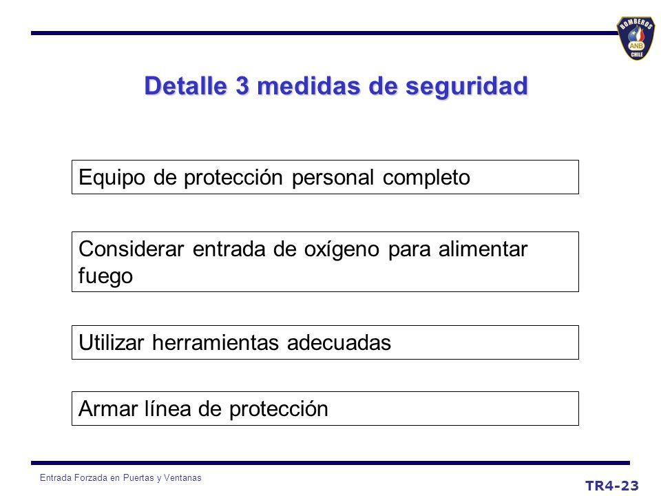 Detalle 3 medidas de seguridad