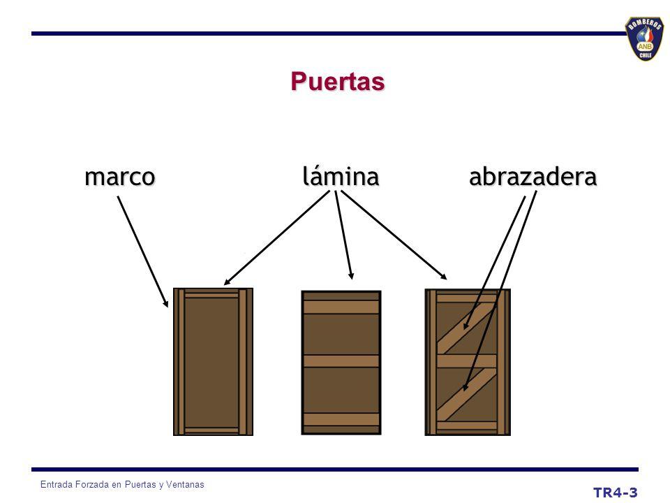 Puertas marco lámina abrazadera TR4-3