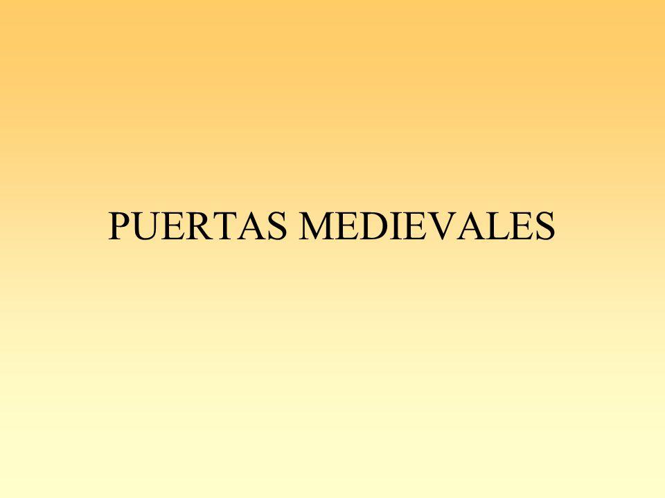PUERTAS MEDIEVALES