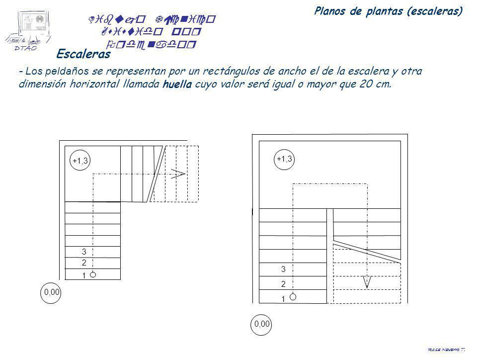 Planos de plantas (escaleras)