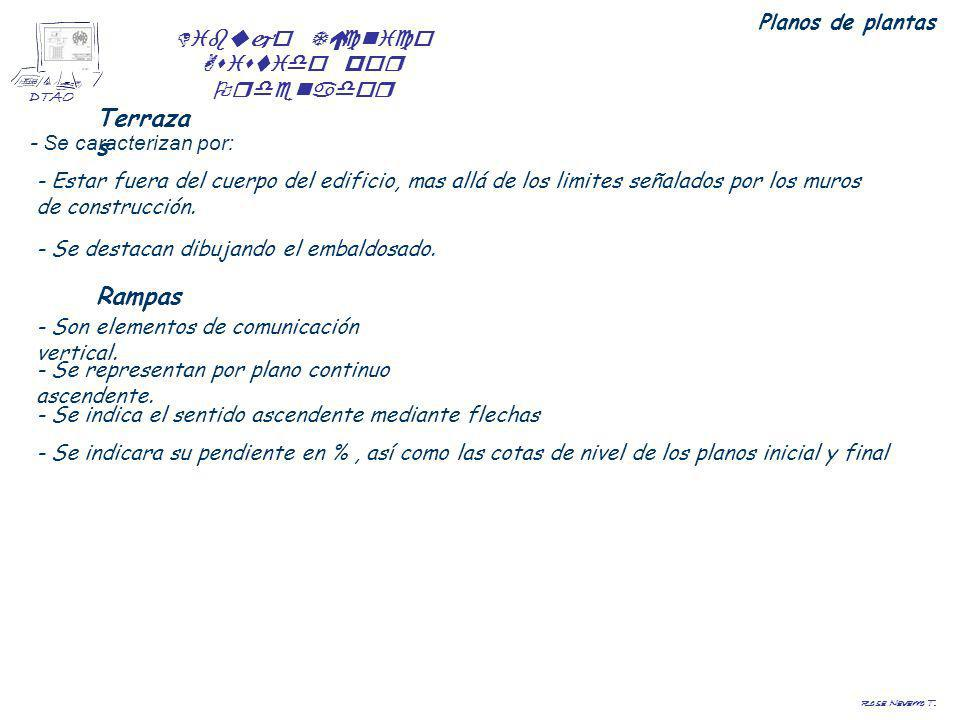 Terrazas Rampas Planos de plantas - Se caracterizan por: