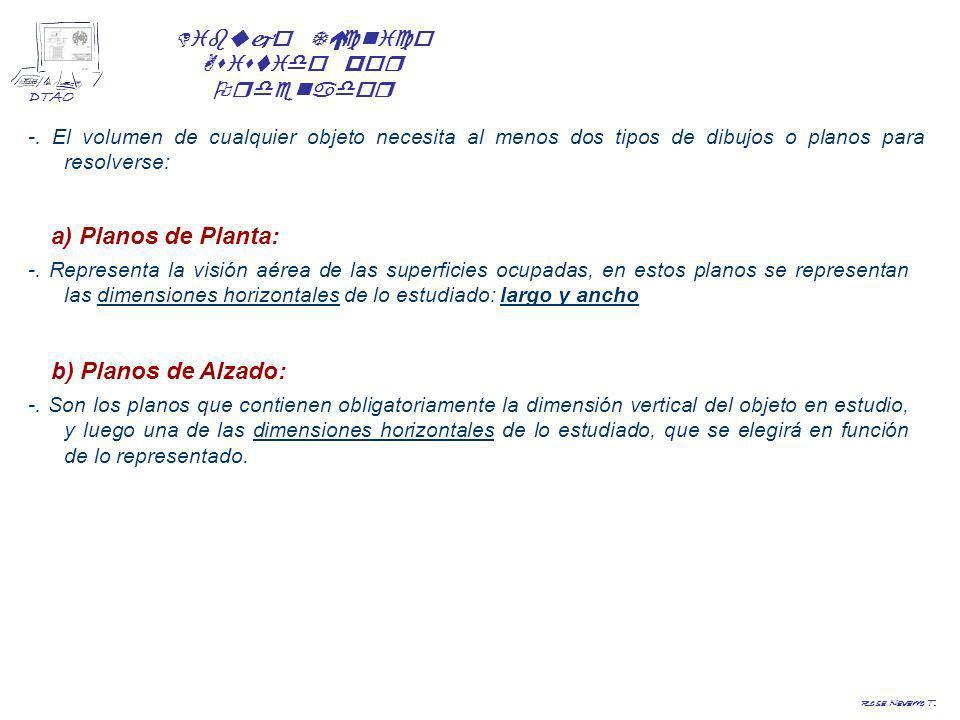 a) Planos de Planta: b) Planos de Alzado: