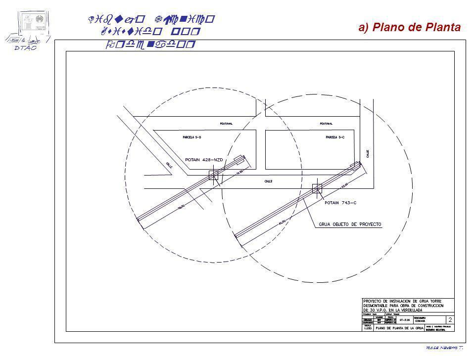 a) Plano de Planta Rosa Navarro T.
